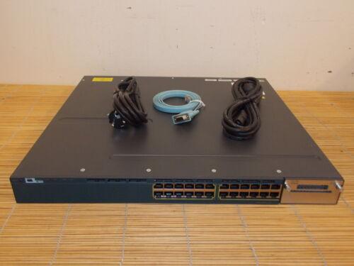 1 von 1 - Cisco Catalyst WS-C3560X-24T-L 24x 10/100/1000 GIGABIT Port Switch dual PWR