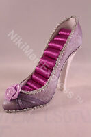 Fashion Rose Shoes Shape Style Ring Jewelry Display Holder Stand Rack