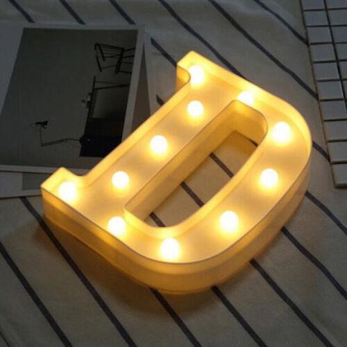 1 Luce LED fino Alfabeto Lettere//Numeri Bianco Luci Legno Simbolo Stand//Gancio