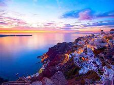 Impresión arte cartel Foto Paisaje En Paisaje Santorini Grecia Sunset lfmp0721