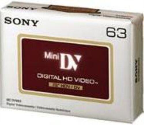 10 SONY HD HDV 1080P TAPE CASSETTE MINI DV DVM63HD (UK Seller) BRAND NEW Genuine