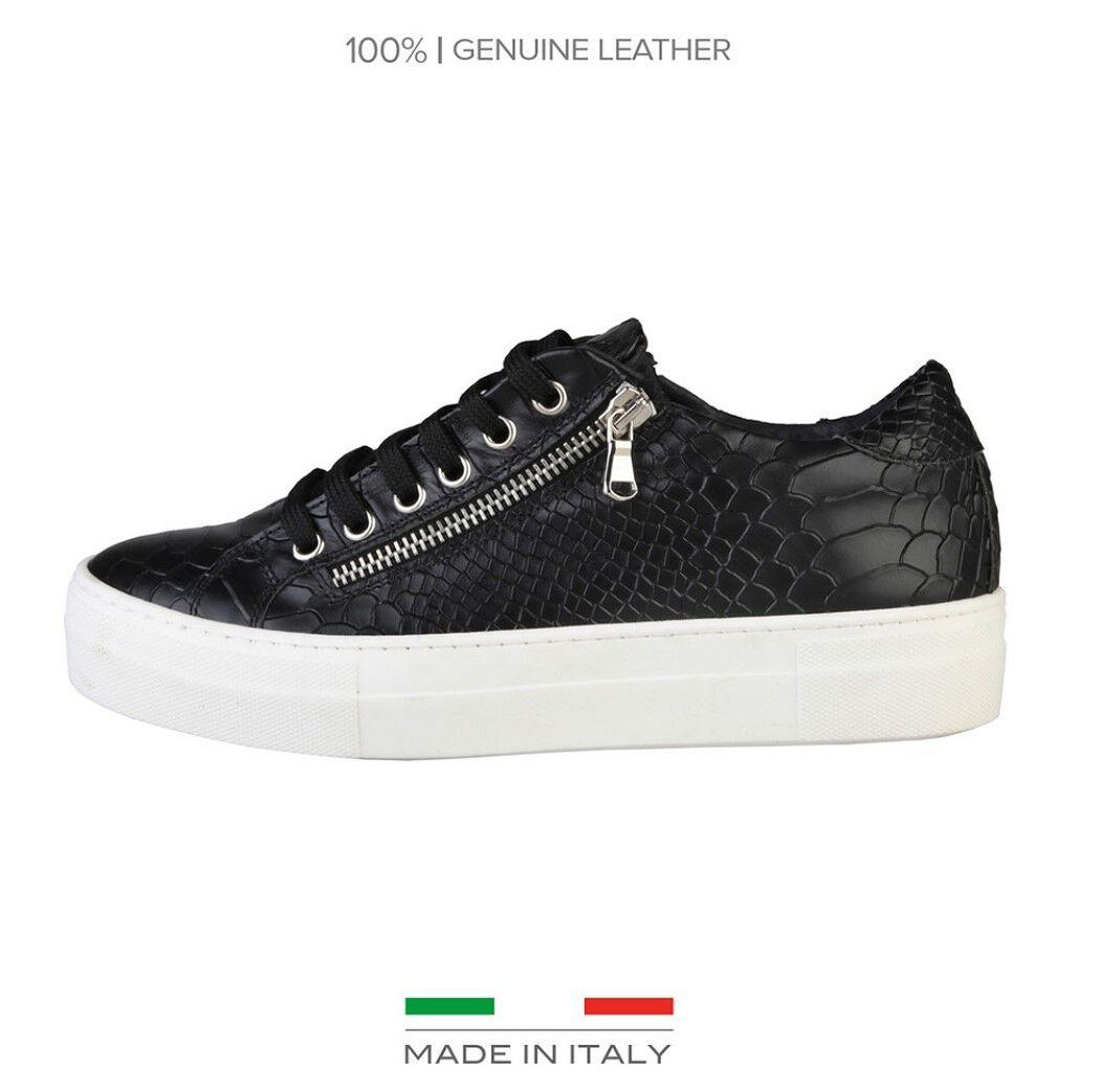 Versace V Sneaker 1969 Damen Echtleder Plateu Sneaker V Platform Schuhe Schlangenoptik 491a2b