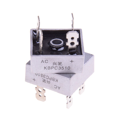 1000 volt 35a diode TK 2Pcs bridge rectifier kbpc3510 amp metal case