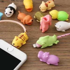 Cable-Cord-Cute-Animal-Bite-Phone-Charger-Accessory-Protect-For-iPhone-Samsung