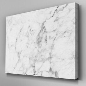 Ab998 Modern Grey White Marble Xl Canvas Wall Art Abstract Picture