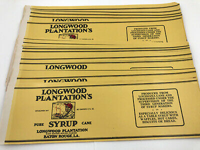 REPRINT PICTURE of old can label LONGWOOD PLANTATION SYRUP baton rouge la 7x5