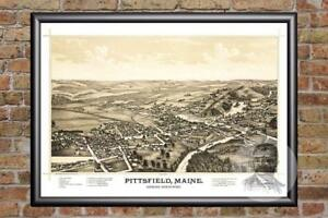 Vintage-Pittsfield-ME-Map-1889-Historic-Maine-Art-Old-Victorian-Industrial