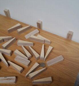 AuBergewohnlich Das Bild Wird Geladen 28 Holzkeile Hartholz  Zubehoer Montage Keile Zur Verlegung