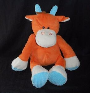 14 Circo Target Baby Orange Blue Corduroy Cow Horse Stuffed Animal