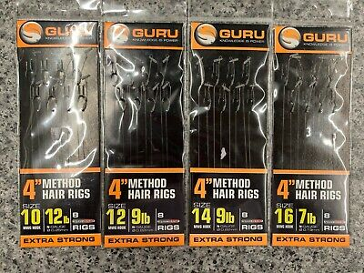 """Guru Extra Strong 4/"""" Bait Band Rigs in Assorted Sizes"""