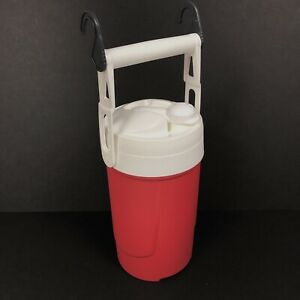 Igloo-Sport-Beverage-Cooler-Chain-Links-WATER-Red-Heat-1-2-Gallon-BOTTLE