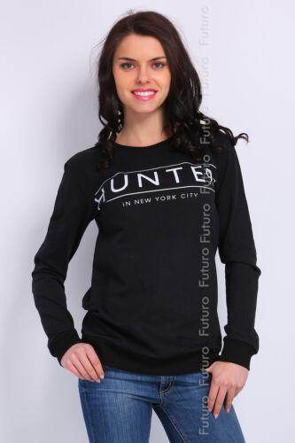Mesdames Top Hunter à manches longues imprimé chemisier pull à encolure ras-du-cou Taille 8-12 ft1375