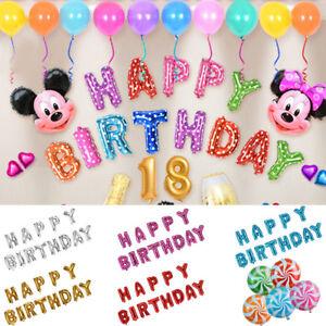 Or-Rose-16-034-Alphabet-Lettre-amp-Numero-Ballons-Nom-fete-d-039-anniversaire