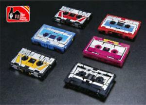 New In Box Transformers 6PCS Soundwave Tapes Cassette Ravage Laserbeak Rumble