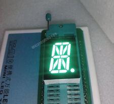 "10pcs 0.8"" inch 1 digit led display 17-seg Alphanumeric Common cathode 阴 GREEN"