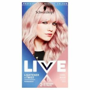 2x-Schwarzkopf-Live-Colour-Lightener-Twist-101-Cool-Rose-Hair-Dye
