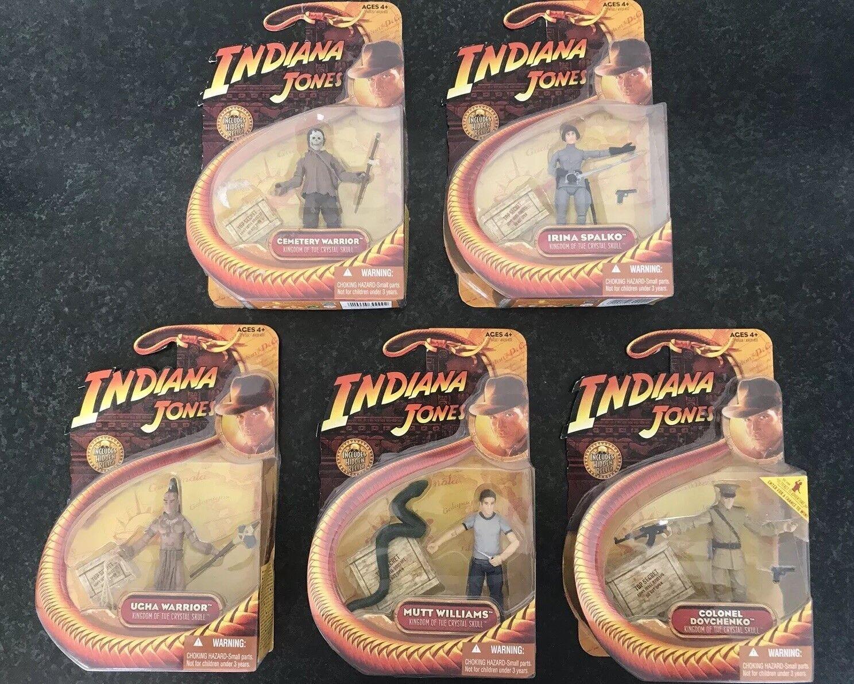 RARE Indiana Jones   Kingdom of the Crystal Skull - Figures Joblot Bundle x 5