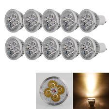 10PCS GU10 4W Warm White Dimmable LED Spot Light Bulb Lamp Energy Saving 110V
