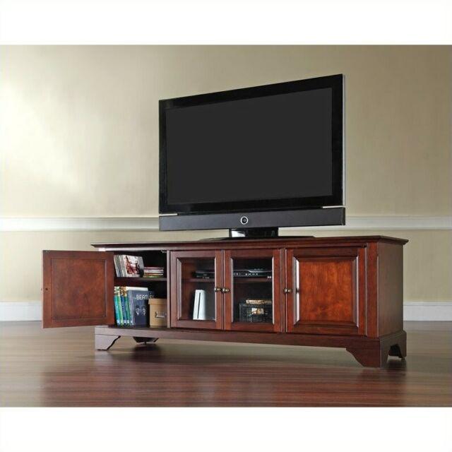 Crosley Furniture LaFayette 60-Inch Low ProfileTV Stand Vintage Mahogany