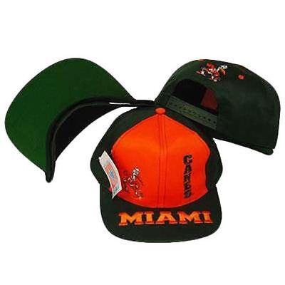 Kompetent Ncaa Miami Hurricanes Vintage Schnappverschluss Flache Bill Hut Reich An Poetischer Und Bildlicher Pracht Baseball & Softball Fanartikel