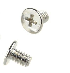 20-50-100-1000-PCS-M2-x-3mm-Laptop-Phillips-Flat-Head-Screw-Nickel-Plated-NEW