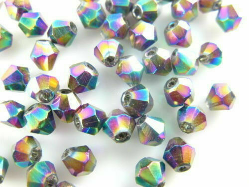4mm  500pcs Charm Bicone Crystal Glass Loose Beads DIY Jewelry Bracelet Making