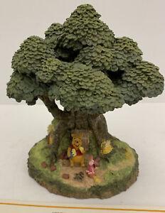 Danbury Mint Winnie The Pooh's House Ceramic Figurine Pooh And Piglet~ COA~