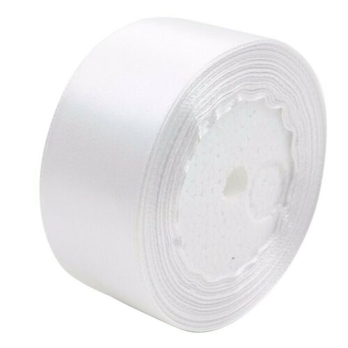 white 1 roll 40mm 22 Meters silk satin ribbon for wedding party I4S1