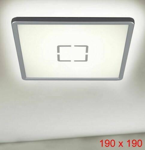 190x190x25mm Briloner Ultraflache LED Deckenleuchte Free weiß//silber 3174-014