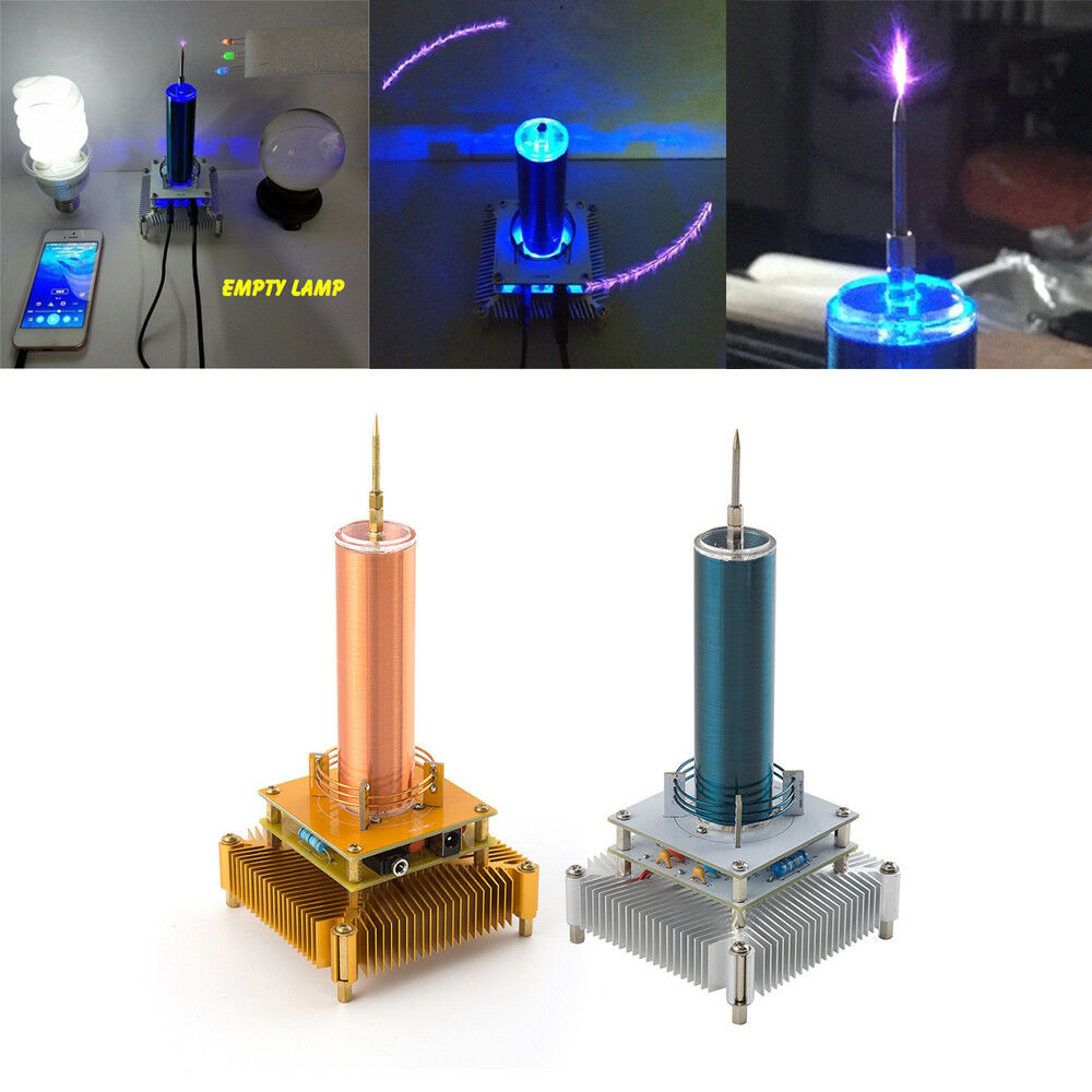 Electronics Music Tesla Coil Plasma Speaker Wireless Transmission Sound Solid J