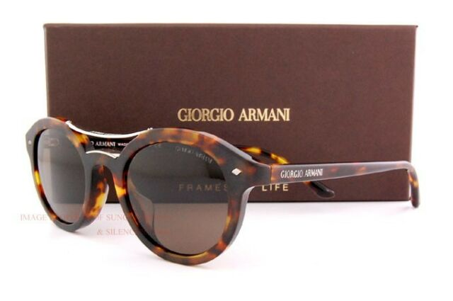 8bfbf9c5b6 Brand New GIORGIO ARMANI Sunglasses AR 8007 501157 POLARIZED HAVANA BROWN