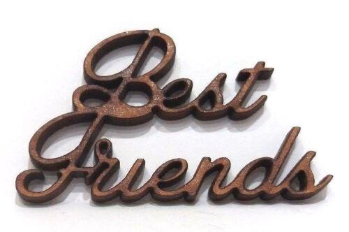 Etiqueta de Regalo de madera mejores amigos formas Tarjeta de artesanía de arte hacer scrapbook adorno