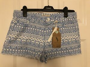 Size Uk 42 large Brave Blue Eur 14 Ladies Bnwt Shorts Soul aqP7wZ