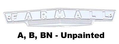 FRONT EMBLEM IH FARMALL TRACTOR MODELS A, AV, B, BN