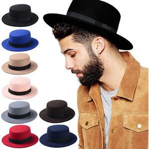 456b3c63a3369 Unisex Men Women Sailor Hats Boater Caps Wide Brim Sombrero Pork Pie ...