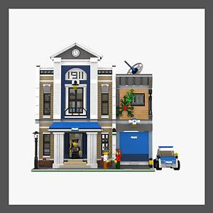 LEGO Custom Police Station INSTRUCTIONS ONLY!!