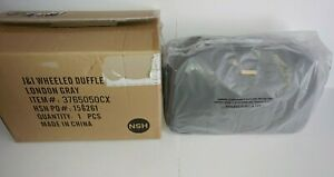 JOY & IMAN Pebble Split Leather Wheeled Duffle Luggage London Gray NEW IN BOX