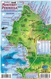 Monterey Peninsula California Laminated Dive Map Fish Card Franko
