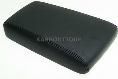 Armrest Console Lid Cover Leather Synthetic for 96-04 Nissan Pathfinder Black