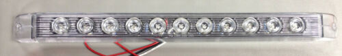 """LED Clear//Red Stop-Tail-Turn Trailer Lights 17"""" LongSurface MountBright"""