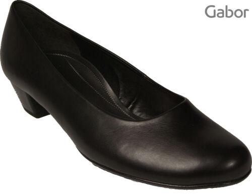 Gabor Talon Escarpins Nouveau Chaussures Noir 35mm H Largeur 8Srq80XWz