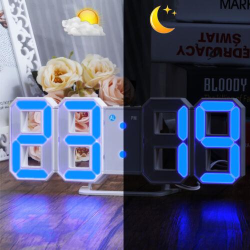 LED Digital Funkwecker Number Alarm Timer Tischuhr Uhren mit Helligkeitsabgleich
