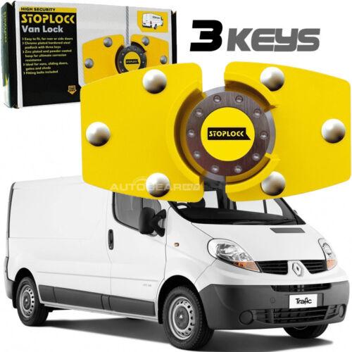 Stoplock Yellow High Security Anti-Theft Van Door Lock Hasps Padlock with 3 Keys