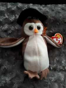 RETIRED-TY-BEANIE-BABIES-WISE-OWL-MAY-31ST-1997