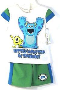 Kids-Disney-Mosters-Inc-2-Piece-T-Shirt-Shorts-24-Months