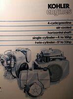 Kohler Engine Motor Color Sales Brochure (2 Books)8pg Lawn Riding Garden Tractor