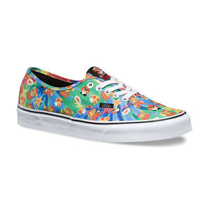 77c52562fe VANS x NINTENDO Authentic Mens Shoes NEW Super Mario Bros TIE DYE ...