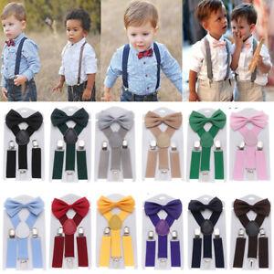Kids Children Boys Girls Adjustable Y-Back Suspender Elastic Straps Braces Charm