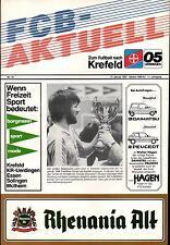 17.01.1987 HT Bayer Uerdingen, Fortuna Düsseldorf, Schalke 04, MSV Duisburg