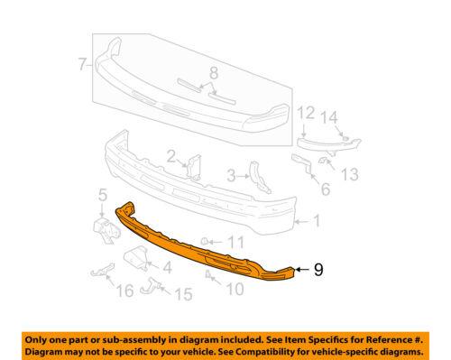 GM OEM Front Bumper-Spoiler Lip Chin Splitter 15199825